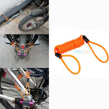 Motorcycle Bike Alarm Disc Lock Antitheft Security Spring Reminder Cable Tight