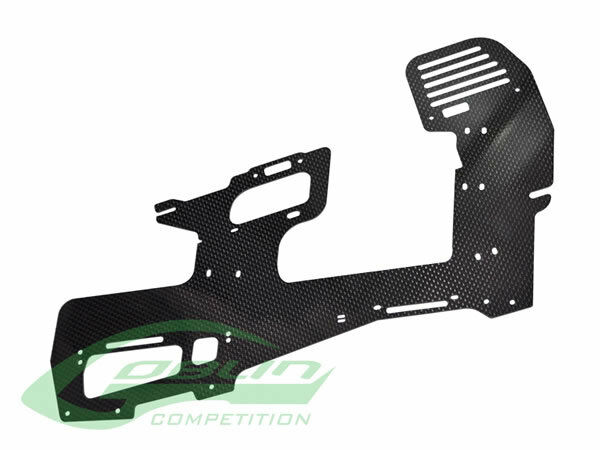 Carbon Fiber 2mm Main Frame (1pc) - Goblin 630 Competition