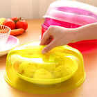 Transparent Microwave Ventilated Plate Dish Food Cover Steam Vent Lid Hot Sale