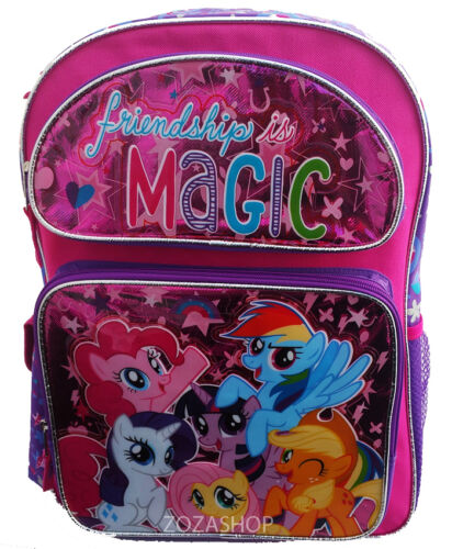 "My Little Pony Large School Backpack 16/"" Book Bag Pony Rocks Rainbow Stars"