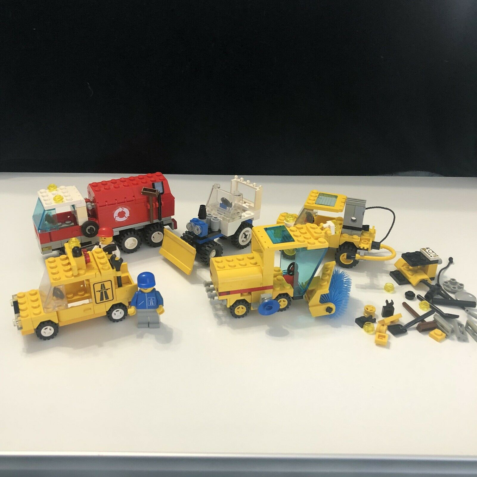 Lego 6649 6521 6667 6524 6668 Vintage Traffic Town Recycle Sweeper Truck Pothole