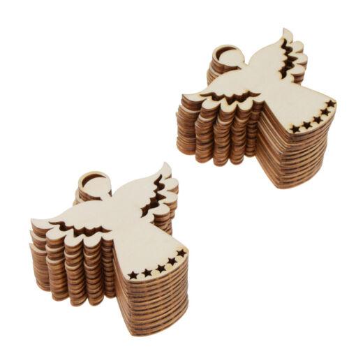 24pcs unvollendete Engel Holz Geschenkanhänger hängen Anhänger