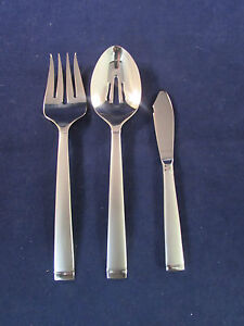 Oneida-Stainless-Flatware-FROST-3pc-Serving-Set-NEW