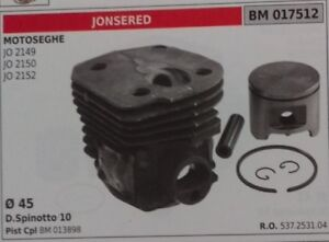 537253104-CYLINDER-AND-PISTON-COMPLETE-CHAINSAW-JONSERED-JO-2149-2150-2152-45