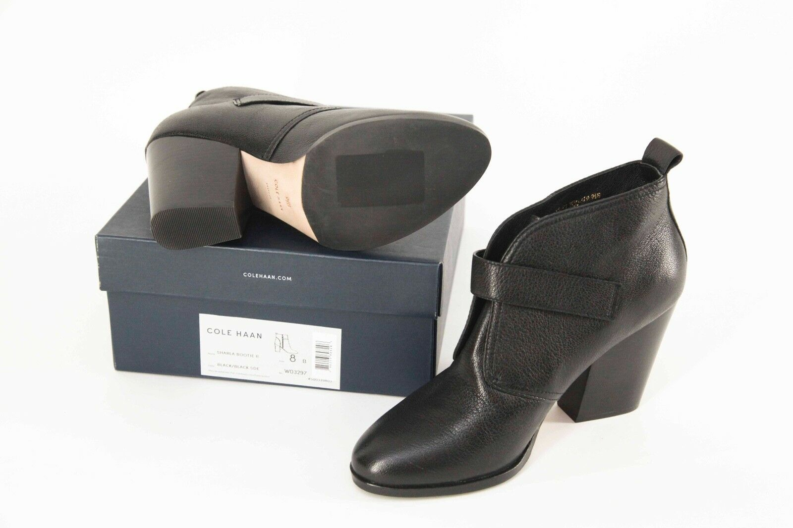 NEW w box box box  278 Cole Haan Black Leather Ankle Boots size 9.5 44e8cd