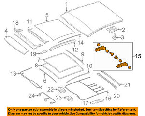 Details about MERCEDES OEM 16-18 GLE63 AMG S Sunroof-Repair Kit 2927801000