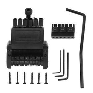 6 string roller saddle tremolo bridge tailpiece headless electric guitar parts ebay. Black Bedroom Furniture Sets. Home Design Ideas