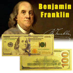 WR-Latest-Gold-US-Note-100-One-Hundred-Dollars-24K-Gold-Banknote-Collector-Bill