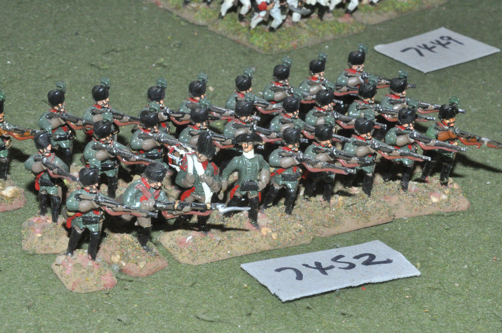 25mm 7YW   russian - seven years war jagers 24 figures metal - inf (7452)