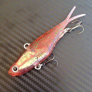 Bloodworm Mullet Transam Lures Soft Plastics 95mm Vibe Fishing Lure Vibes Jacks