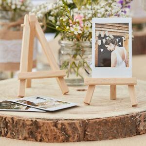 Mini Staffeleien Holz Natur 3 Stuck Tischkartenhalter Hochzeit