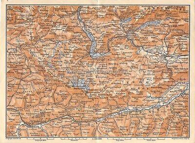 Triest Palmanova Udine Laibach Krainburg um 1900 historische alte Landkarte map