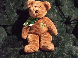 "2002 TY beanie buddie 15"" billionaire bear shaded brown,. no hang tag,"