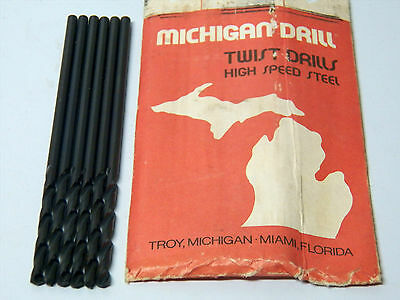 "6 Piece Michigan Drill 6/"" Aircraft Drill Bits #13 .1850/"" 5-2-4 - USA Made"