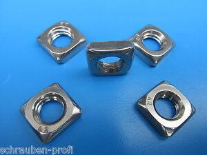10-niedrige-Edelstahl-Vierkantmuttern-V2A-DIN-562-Flach-M2-M12-fuer-Profil
