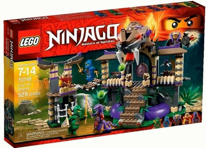 LEGO Ninjago 70749 Enter the Serpent Toy Set New In Box Sealed  70749