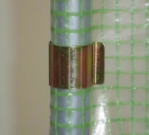 Gewachshaus Klammern Metall Rohrklammern Fur Gewachshausfolie Ebay