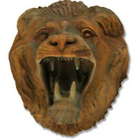 Roaring Lion Outdoor Garden Wall Art Decor Sculpture -faux Concrete-custom Color