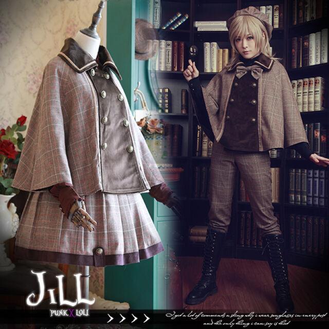 british goth Baker St. detective scottish tartan woolen mantle jacket【JI3089】