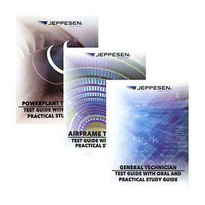 Details about Jeppesen AMT (A&P) Test Guide Set - General, Airframe &  Powerplant - 10033660