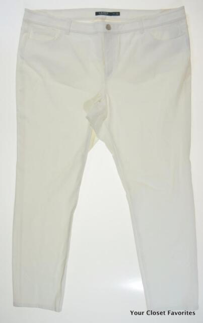 b8e3334ea96a9 RALPH LAUREN Womens Plus 20W Stretch Twill Padmara Slim Fit Trouser Pant