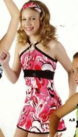 Metal Loop Accent Print Top Dress Ch/ladies Paisly Pink 60's Style Minidress