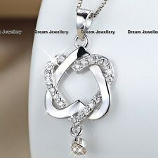CHRISTMAS GIFTS FOR HER Heart & Diamond Necklace Women Wife Girls Ladies Xmas K2
