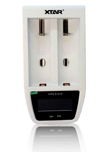 XTAR Ladegerät O4S Over 4 Slim für Li-Ion Akkus - mit 2 extra USB Ausgängen