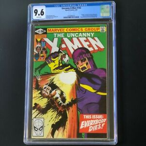 Uncanny-X-Men-142-1981-CGC-9-6-White-Pgs-034-Death-034-of-Wolverine-Marvel