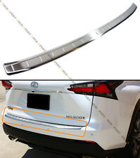 FOR:2015-17 LEXUS NX200t F SPORT BRUSHED STEEL REAR BUMPER TRIM PROTECTOR COVER