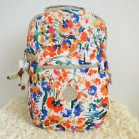 Kipling Seoul Large Backpack With Laptop Protection Floral Night Natural