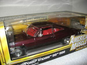 1967 CHEVY IMPALA SS 396 MAROON 1:18 AUTHENTICS ERTL HI DETAIL! ONLY 500 MADE