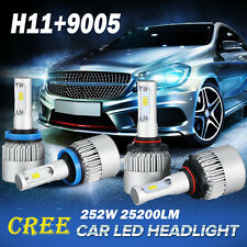 4x CREE H11 + 9005 504W 50400LM LED Headlight Kits Car Driving Lamp White 6000K