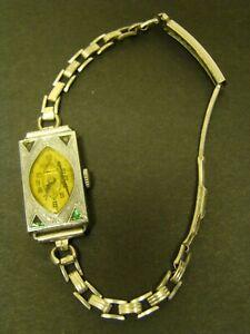 BULOVA-5AP-WATCH-15-Jewels-14KT-GF-Ladies-Gemex-Gold-Filled-Band-1920s-RUNS