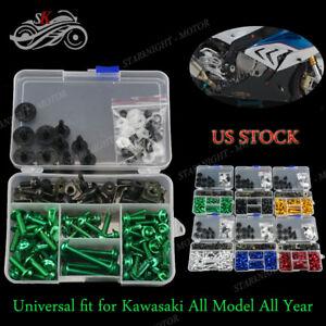 CNC-Complete-Fairing-Bolts-Kit-Bodywork-Screws-Fasteners-Nuts-for-Kawasaki-Ninja