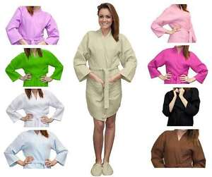 9b3a02bba4 Image is loading Customized-Thigh-Length-Waffle-Weave-Kimono -for-Bridesmaids-