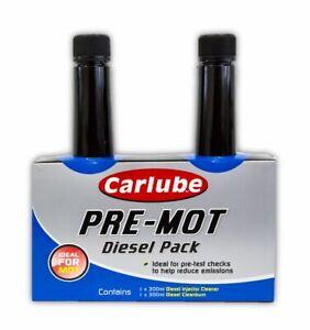 Carlube-Pre-MOT-Diesel-Pack-Diesel-Injector-Cleaner-amp-Clean-Burn-2x-300ml