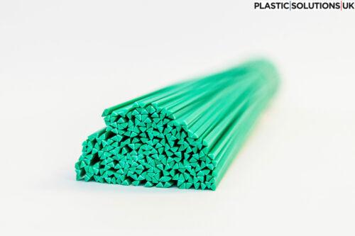 green 30 pcs //triangle //PEHD// polyethylene HDPE Plastic welding rods 4mm