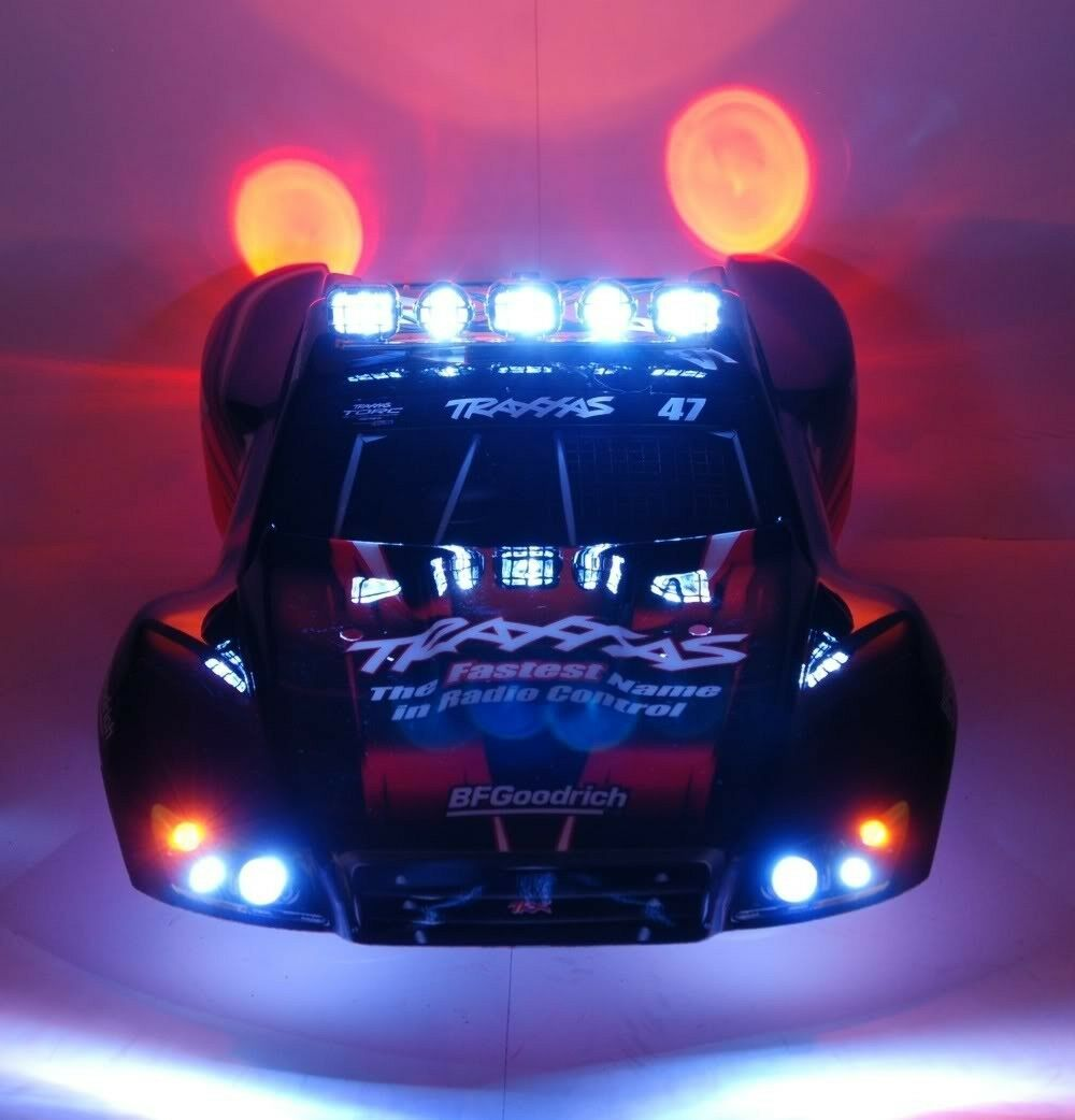 RC LED Light Set with Light Bar for Traxxas Slash 4x4 2WD VXL or RC10