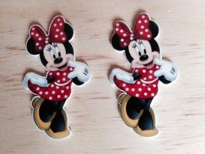Disney Minnie Inspired Planar Resin-Cabochon-Plastic-Hair Bow Center-Supply-Craf