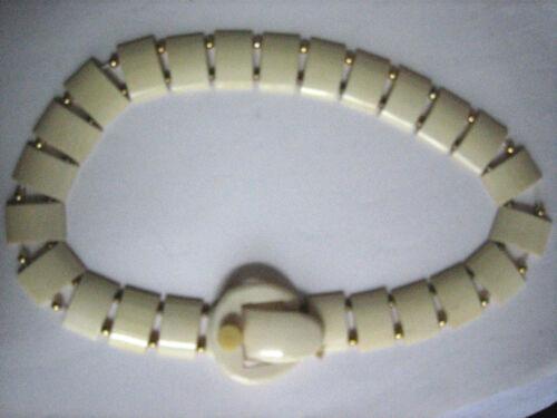 Vintage Celluloid Buckle Collar Necklace, restring