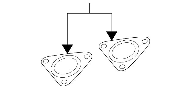 Catalytic Converter Gasket Volkswagen 7L0 253 115 A