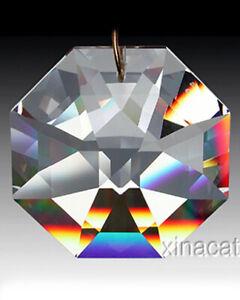 Strass-Swarovski-8115-28mm-Lily-Octagon-Crystal-Clear-Prism-SunCatcher-w-Logo