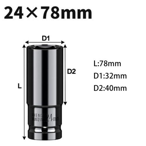 14~32mm Pneumatic Extra-Deep Long Hex Impact Wrench Socket Metric SHIP NOW