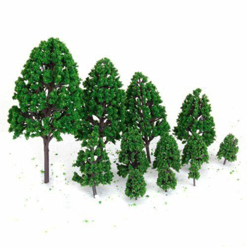 24pc Artificielle Moss Green Tree Jardin miniatures accessoires VACANCES BRICOLAGE Fairy Garden