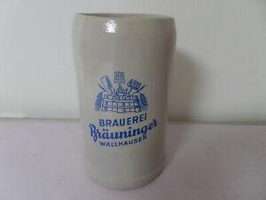 alter 1 L Bierkrug Maßkrug Brauerei Bräuninger Wallhausen