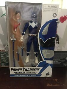 Hasbro Power Rangers Mighty Morphin Blue Ranger Lightning Collection 6-Inch New