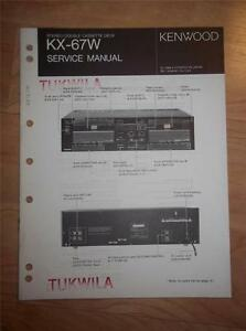 kenwood service manual kx 67w cassette tape deck player original rh ebay com Kenwood Manual DPX-400 Kenwood User Manuals