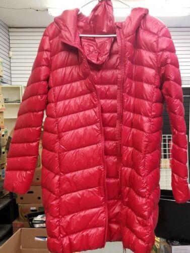 Wenven rossa donna per di cappotto Medium gonfio x8frvTxn
