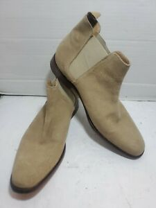 Mens-Aldo-Tan-Suede-Chelsea-Boots-Size-13-In-Box-Retail-150